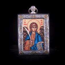 002/0033 Silver icon of Saint Micheal