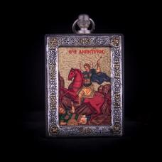 002/0035 Silver icon of Saint Dimitri