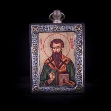 002/0038 silver icon of saint Basilious