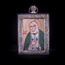 002/0044 Silver icon of saint Serafim