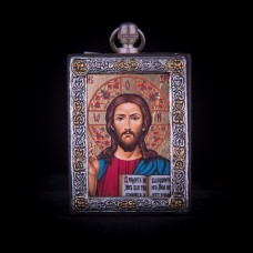 002/0046 Silver icon of Jesus Christ