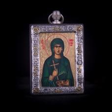 002/0047   Silver icon of Saint Paraskeva