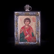 002/0048 Silver icon of Saint Penteleimon