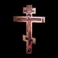 004/0010 Orthodox cross on wood