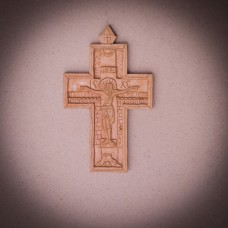 005/0036  Wooden  cross hand carved