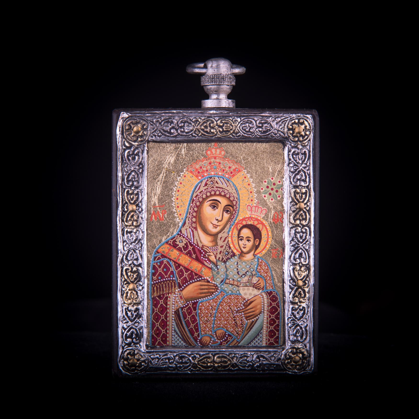 002/0024 silver icon virgin Mary of Bethlehem