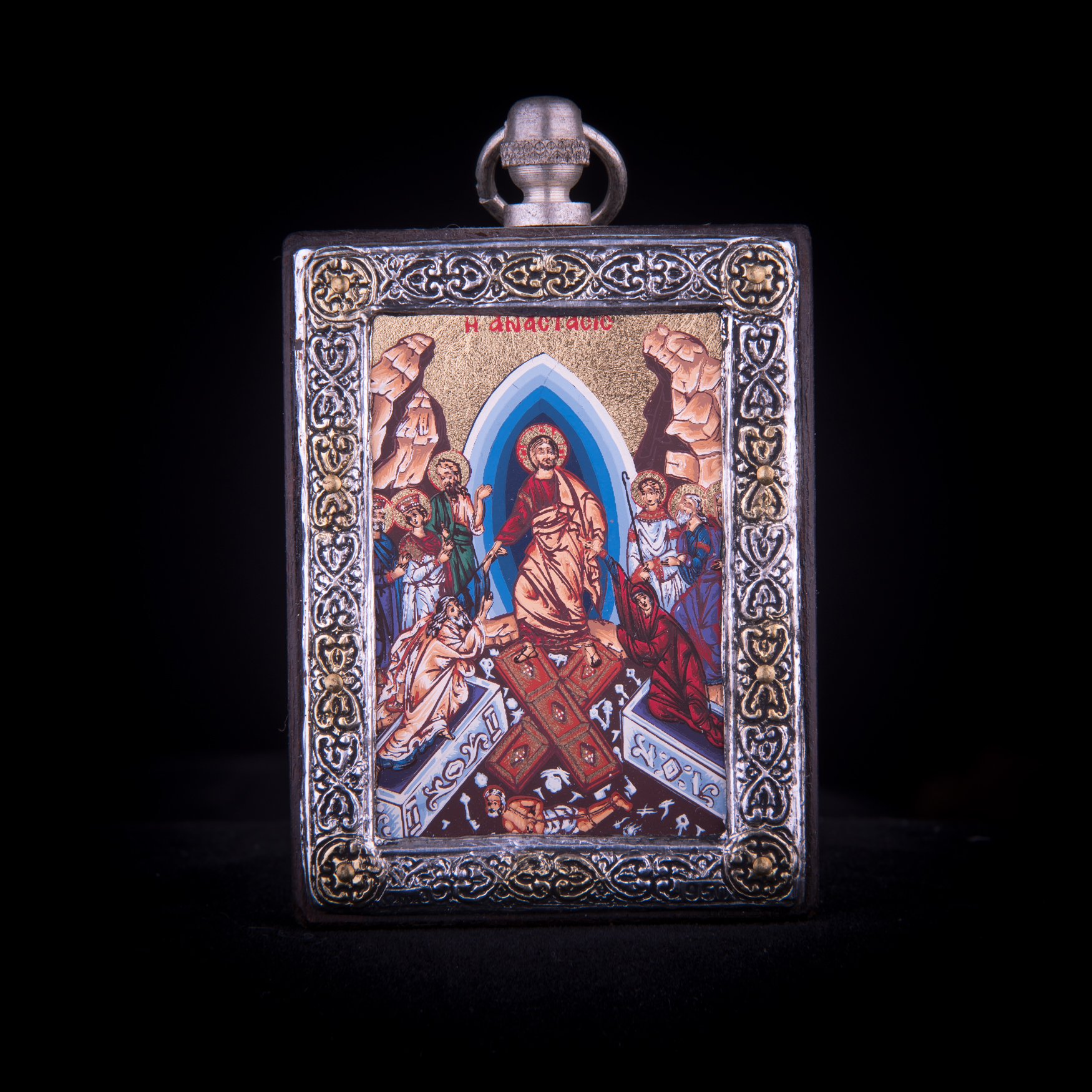 002/0027 silver icon the Resurrection
