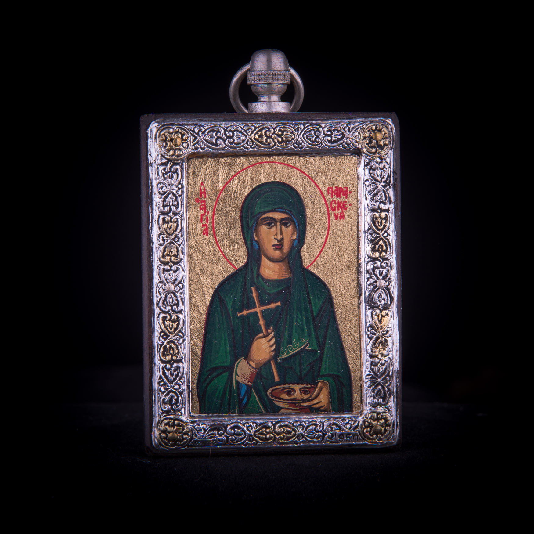 002/0047   Silver icon of Saint Paraskeva