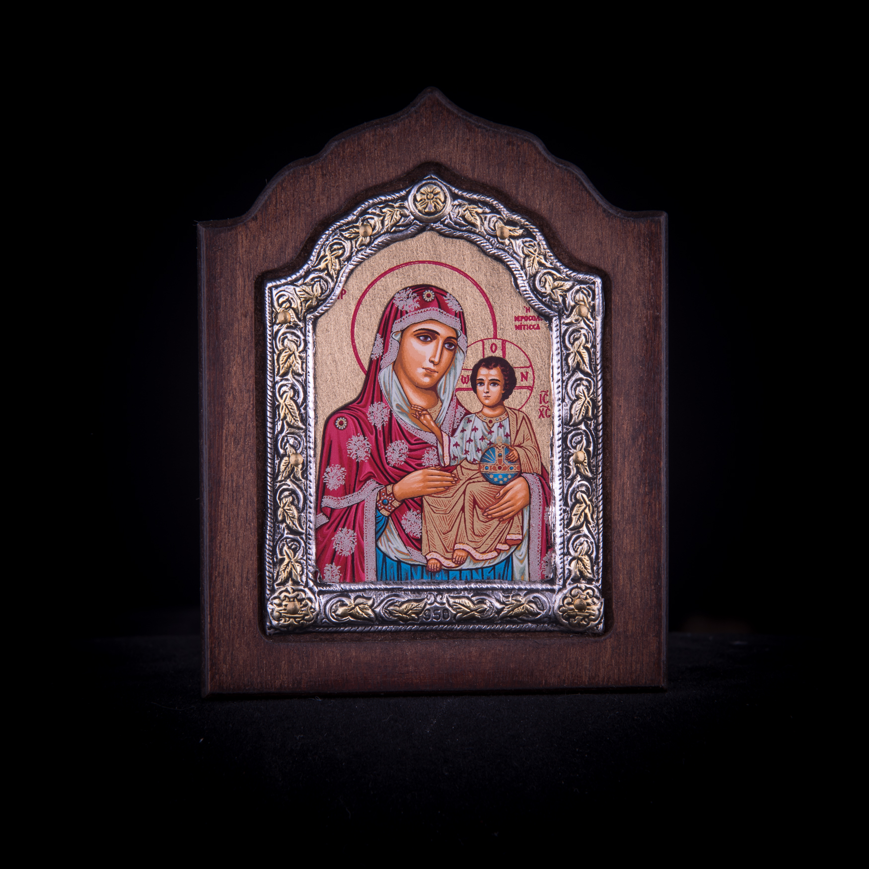 002/0052 Silver icon of Virgin Mary of jerusalem